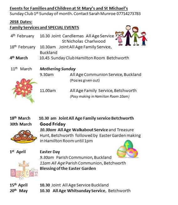 StMary and St MichaelsFamily Activities 2018